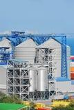 Port grain dryer Stock Photos