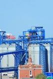 Port grain dryer Royalty Free Stock Image