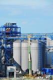 Port grain silo. Grain silo in the port of Odessa, Ukraine Royalty Free Stock Photos