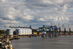 Port grain terminals Royalty Free Stock Photo