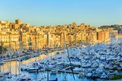 Port grand à Malte Images stock