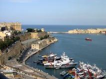Port grand, La Valette, Malte image libre de droits