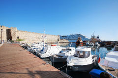 Port (greece, rhodes) Royalty Free Stock Image