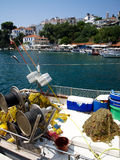 Port on the Greek island of Skiathos Stock Image