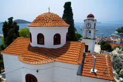 Port on the Greek island of Skiathos Royalty Free Stock Photo