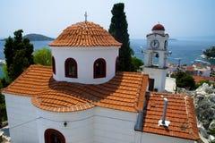 Port on the Greek island of Skiathos royalty free stock photo