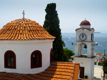 Port on the Greek island of Skiathos royalty free stock images