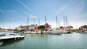 Port Grimaud - wide photo Royalty Free Stock Photography