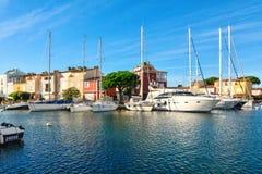 Port Grimaun, yachts et architecture Image libre de droits