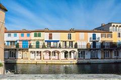 Port Grimaun, yachts et architecture Photo stock
