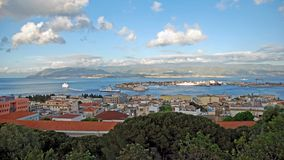 Port and gut strait of Messina Royalty Free Stock Photos