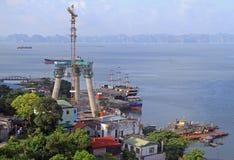 Port in Ha long city, Vietnam Royalty Free Stock Image