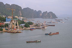 Port in Ha long city, Vietnam Royalty Free Stock Photography