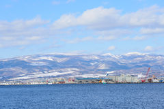 The port of Hakodate in Hokkaido Royalty Free Stock Image