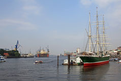 Port in Hamburg Royalty Free Stock Photo