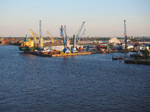 Port of Hamburg in Hamburg Stock Image