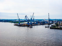 Port of Hamburg in Hamburg hdr Stock Images