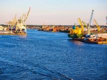 Port of Hamburg in Hamburg hdr Royalty Free Stock Photo