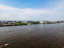 Port of Hamburg in Hamburg hdr Royalty Free Stock Photography