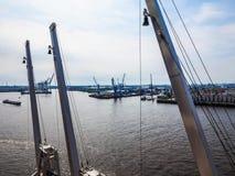 Port of Hamburg in Hamburg hdr Stock Image