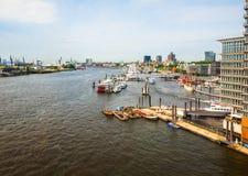 Port of Hamburg in Hamburg hdr Stock Photos