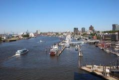 The Port of Hamburg. Germany royalty free stock photography