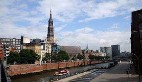 Hamburg's main church St. Michaelis Royalty Free Stock Photo