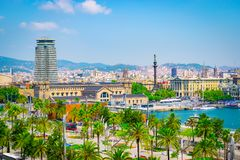 Cruise Port of Barcelona, Spain Royalty Free Stock Photography