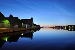 Port. The harbor at night a great quiet night Royalty Free Stock Photos