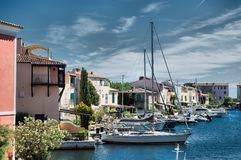 Port and harbor in Saint-Tropez. Grimaud. One of the most popular destinations on the French Riviera stock photography