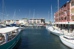 Port and harbor in Saint-Tropez. Grimaud. One of the most popular destinations on the French Riviera royalty free stock images