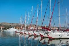 Port (harbour) in Trogir Royalty Free Stock Image