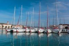 Port (harbour) in Trogir Stock Photos