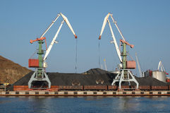 Port (harbour) Vladivostok with lifting crane. Stock Images