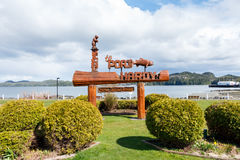 Port Hardy, BC, Canada - Circa 2017: Welcome to Port Hardy Sign Stock Images