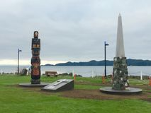 Port Hardy, BC War Memorials Royalty Free Stock Images