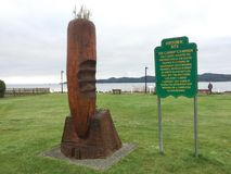 Port Hardy Historic Carrot Campaign Site royalty free stock photo