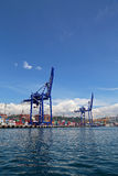 Port of Haydarpasa and Container Terminal in Harem Istanbul Stock Image