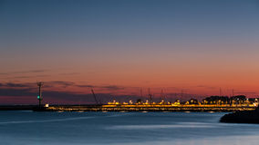 Port of Hel night. Poland, Hel peninsula Royalty Free Stock Image