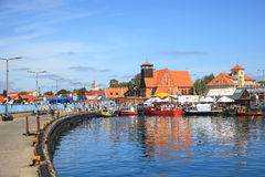 Port of Hel, Poland. Royalty Free Stock Images