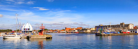 Port of Hel, Poland. View on the quay in port of Hel, Poland Royalty Free Stock Image