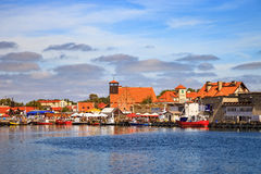 Port of Hel. Ships on the quay in port of Hel, Poland Royalty Free Stock Photography