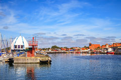 Port of Hel. View on the quay in port of Hel, Poland Royalty Free Stock Photos