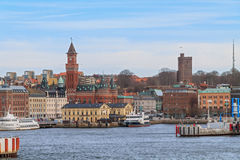 The port of Helsingborg stock photography