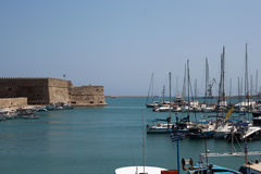 Port of Heraklion Stock Photography