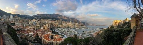 Port Hercule and La Condamine in Monaco Stock Photo