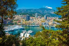 Port Hercule Monte Carlo Stock Image