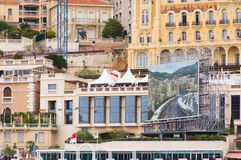 Port Hercule at the track, Formula 1 Stock Photography