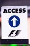 Port Hercule at the track, Formula 1 Stock Images