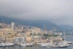 Port Hercule with yachts, Monaco Royalty Free Stock Image